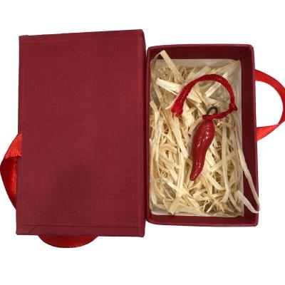 Corno in ceramica 3 cm con scatola regalo