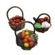 Set da 3 cestini con frutta per pastori da 7 a 10 cm