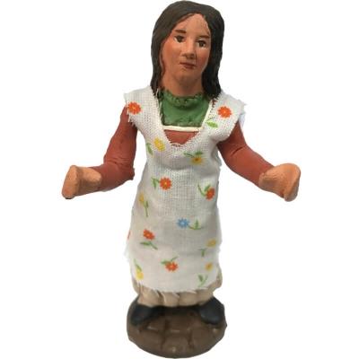 Statuina ragazza 10 cm con braccio e busto in movimento
