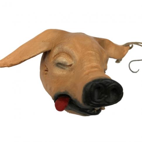 Testa di maiale in terracotta per pastori da 35 a 45 cm