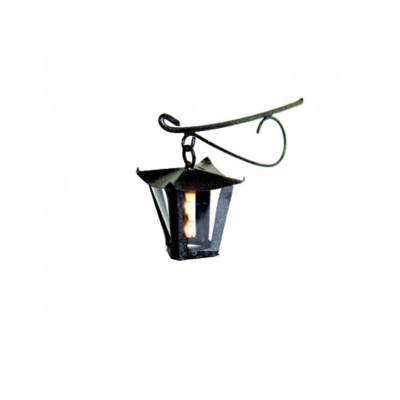 Lampione in ferro 4.5 cm con luce led 12 volt