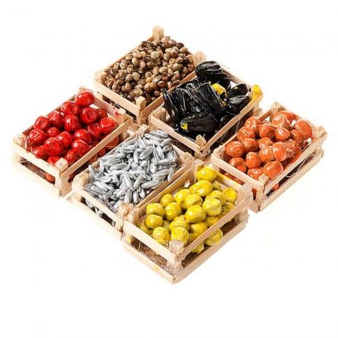 Set da 6 Cassette di frutta per pastori da 7 e 10 cm