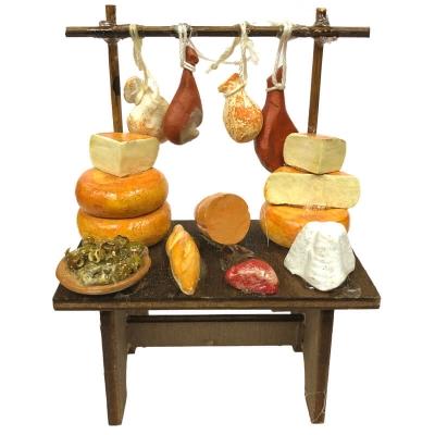 Bancarella formaggi e salumi per pastori da 8 a 10 cm