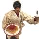 Pulcinella stile 700 con piatto di spaghetti 40 cm