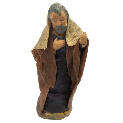 San Giuseppe vestito in stoffa 7 cm