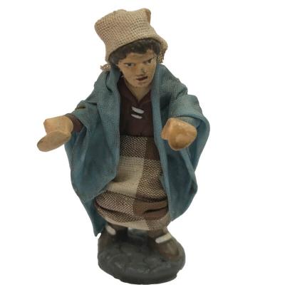 Statuina Fornaio o Pizzaiolo vestiti in stoffa 7 cm