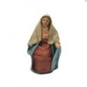 Pastori con vestiti di stoffa 12 cm